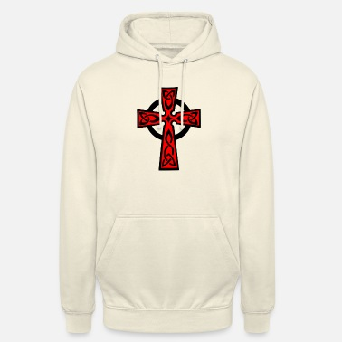 Kreuz Celtic cross of Keltisch kruis red - Unisex hoodie