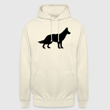 Chien - chien de berger allemand - Sweat-shirt à capuche unisexe