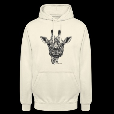 Scribbled girafe - Sweat-shirt à capuche unisexe