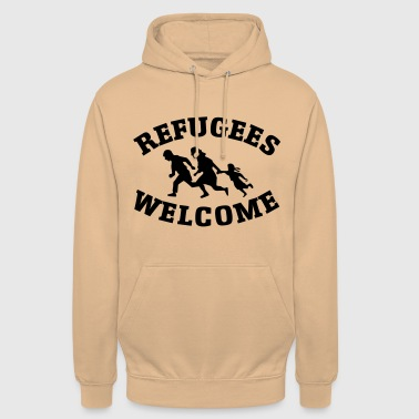 refugees welcome - Unisex Hoodie