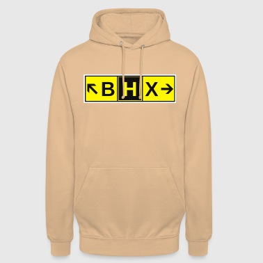 Airport BHX Airport Taxiway Direction Sign Array - Unisex Hoodie