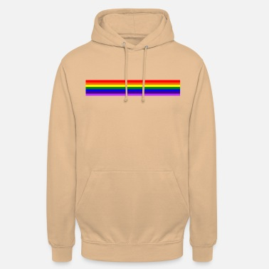 Arcenciel Bande arc en ciel/rainbow band - Sweat-shirt à capuche unisexe