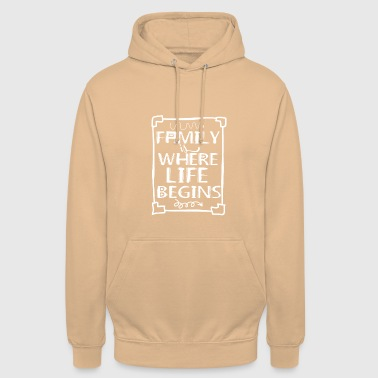 Regroupement Familial Family Is My Life - Sweat-shirt à capuche unisexe