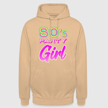 80 Party Girl - Retro Shirt 80s - Unisex-hettegenser