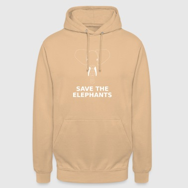 Save the elephant animal welfare species protection environment - Unisex Hoodie