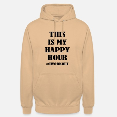 Bodybuilding This is my happy hour #IWORKOUT - Unisex Hoodie