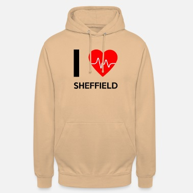 Sheffield I Love Sheffield - Rakastan Sheffield - Unisex huppari
