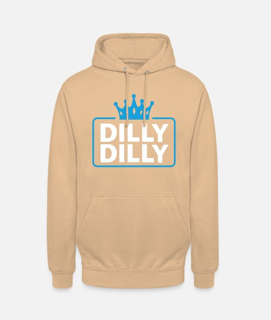 Commercial Sweat-shirts - Dilly dilly - Sweat à capuche unisexe pêche
