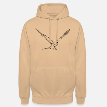 Floating seagull on the North Sea and Baltic coast - Unisex Hoodie