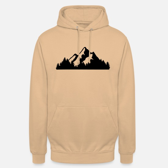 Mountains Sudaderas - Mountains and Forest - Sudadera con capucha unisex carne