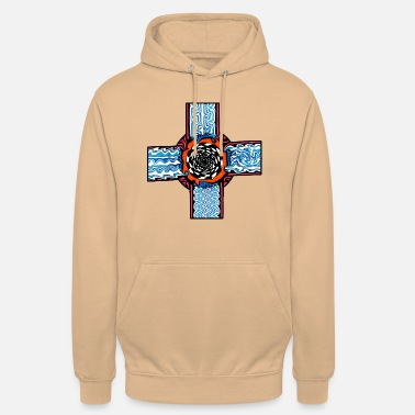 Doodle cross w. different patterns | Symbols & shapes - Unisex Hoodie