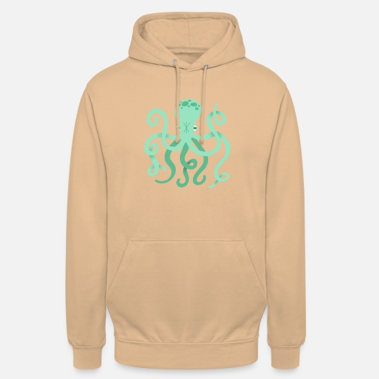 Gift Idea Hoodies & Sweatshirts - octopus - Unisex Hoodie peach