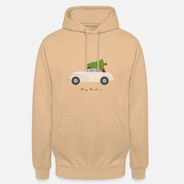 Merry Christmas classic car - Unisex Hoodie