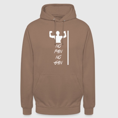 No Pain No Gain NO PAIN NO GAIN - Sudadera con capucha unisex