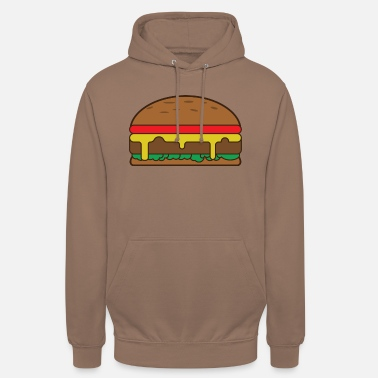 hamburger - Sweat-shirt à capuche unisexe