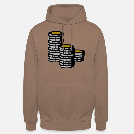 Poker Felpe - Impilabile monete / Pokerchips - Hoodie unisex mokka