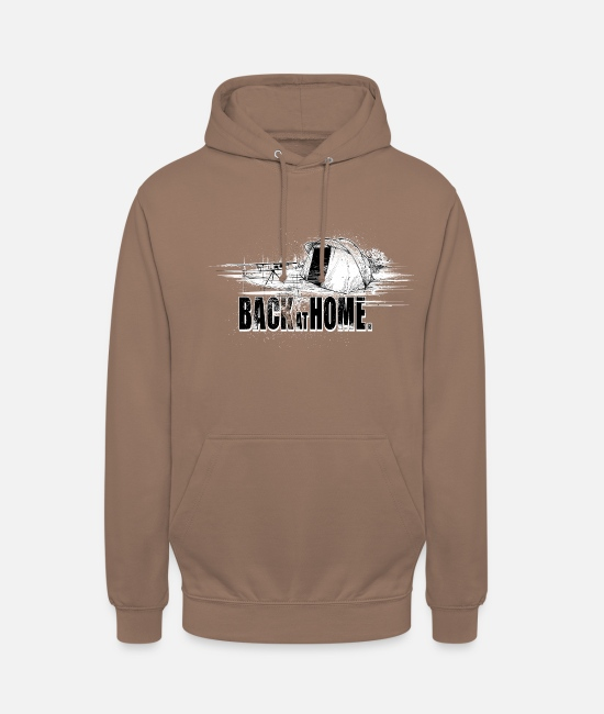 Carp Fishing Hoodies & Sweatshirts - Back at home - Unisex Hoodie mocha