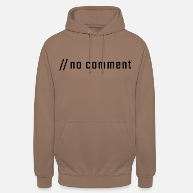 Lowercase no comment - lowercase - Unisex Hoodie