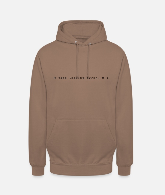 R Tape Loading Hoodies & Sweatshirts - R Tape Loading Error - ZX Spectrum Error Message - Unisex Hoodie mocha