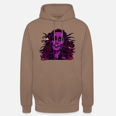 Grußelig Zombie Girl Halloween roses purple sexy design woman - Unisex Hoodie