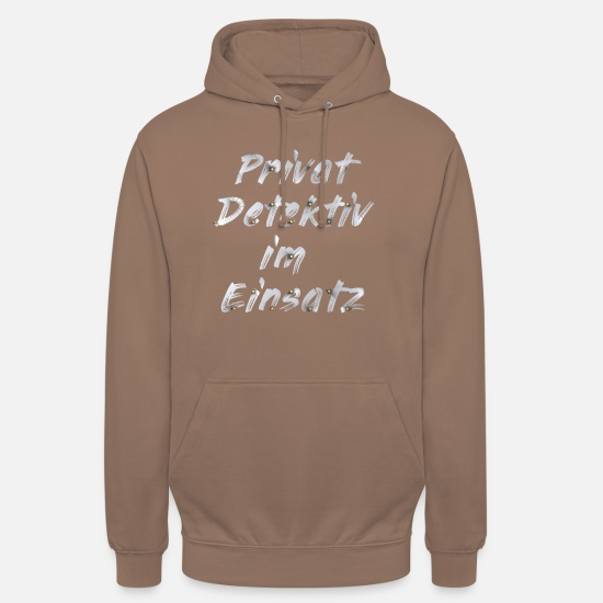 Gift Idea Hoodies & Sweatshirts - Private detective in action - Unisex Hoodie mocha