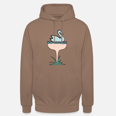 1920s Swan-paign swan champagne outline color - Unisex Hoodie