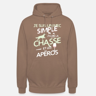 Chasseur Chasseur - un mec simple - Sweat à capuche unisexe