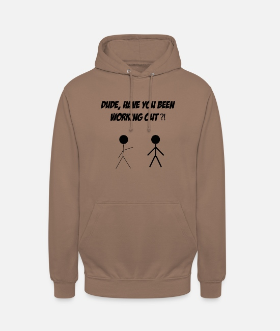 Uncle Hoodies & Sweatshirts - dude working out schwarz - Unisex Hoodie mocha