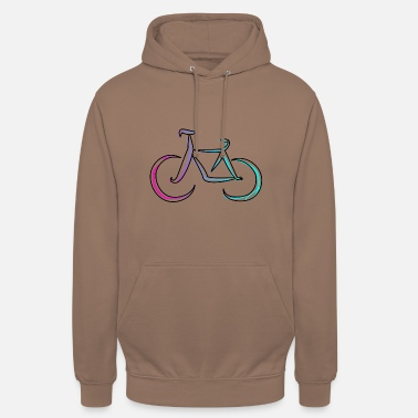 abstract art - bicycle - Unisex Hoodie