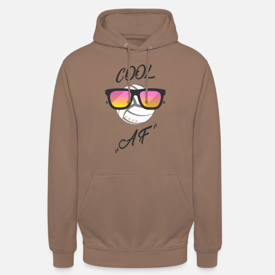 "Spike Hoodies & Sweatshirts - ""cool"" volleyball - funny - sunglasses - Unisex Hoodie mocha"