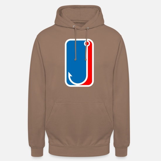Pond Hoodies & Sweatshirts - fishing hook fishing logo - Unisex Hoodie mocha