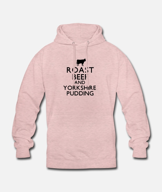 Roast Hoodies & Sweatshirts - Roast Beef and Yorkshire Pudding - Unisex Hoodie surf pink