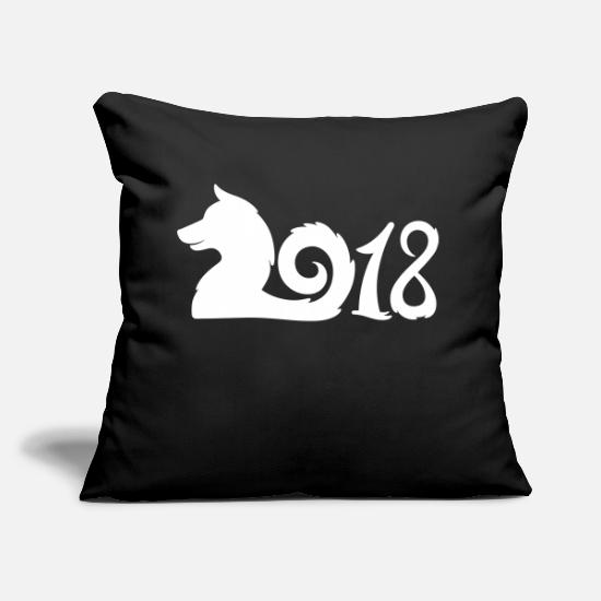Astrology Pillow Cases - 2018 - Year Of The Dog - Chines Horoscope - Pillowcase 17,3'' x 17,3'' (45 x 45 cm) black