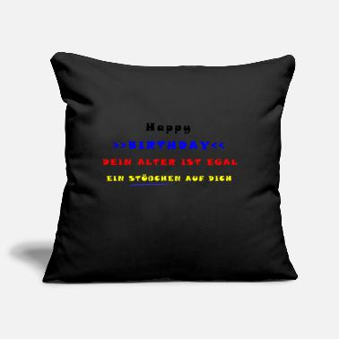 Happy Birthday HAPPY BIRTHDAY - Housse de coussin décorative 44 x 44 cm