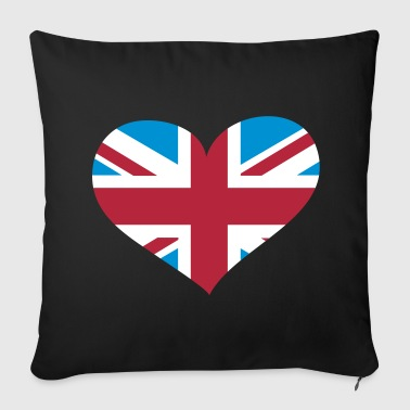 United Kingdom Herz; Heart UK - Sofa pillow cover 44 x 44 cm