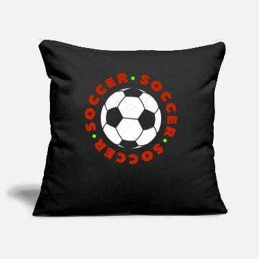 Soccer Ball Soccer Football Player Ball Ik hou van Soccer Fussball - Sierkussenhoes, 44 x 44 cm