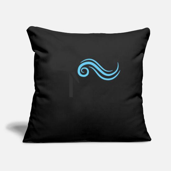 Turbine Pillow Cases - windmill windmill wind turbine windrad14 - Pillowcase 17,3'' x 17,3'' (45 x 45 cm) black
