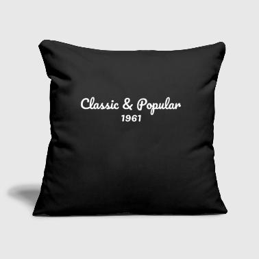 1961 birthday - Sofa pillow cover 44 x 44 cm