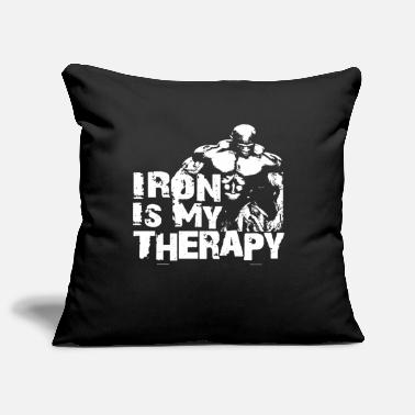 Iron is my therapy - Sofa pillow cover 44 x 44 cm