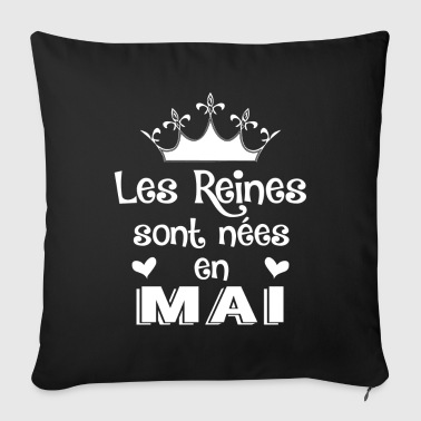 Mai - Reine - Anniversaire - 1 - Sofa pillow cover 44 x 44 cm