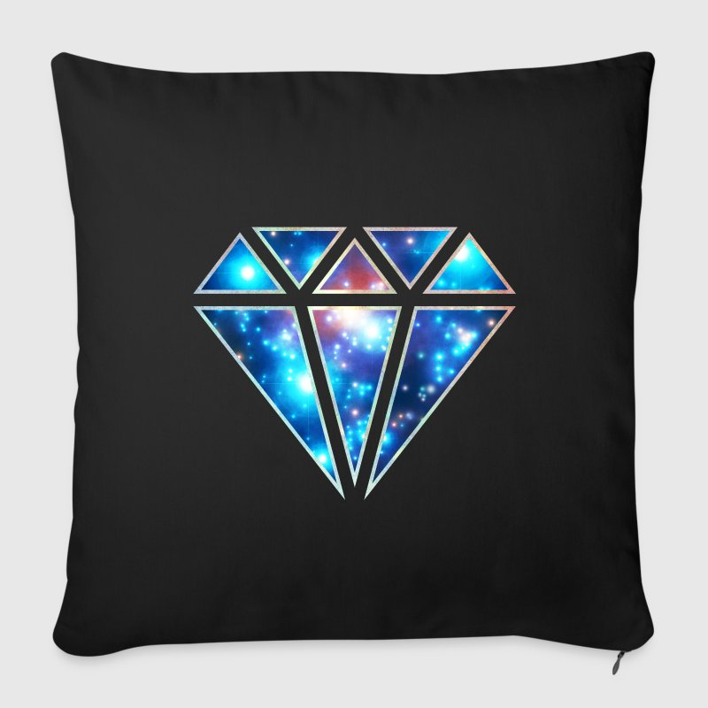 Diamond, galaxy style, triangle, space, symbol,  - Sofa pillow cover 44 x 44 cm