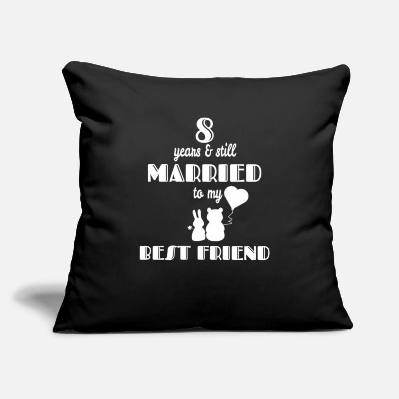 8 Hochzeitstag 8 Jahre Beste Freunde Geschenk Kissenhülle Spreadshirt