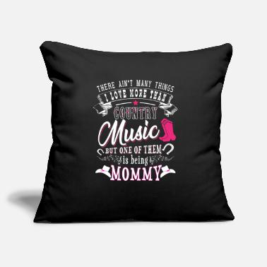 I Love &amp I love Mommy more than Country Music - Pillowcase 17,3'' x 17,3'' (45 x 45 cm)