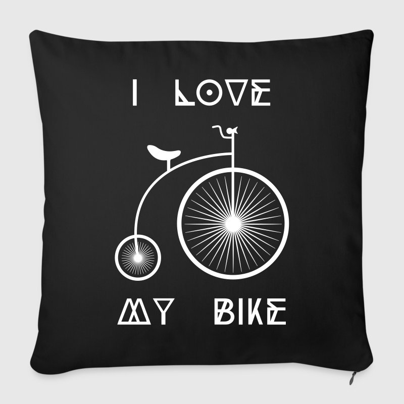 Old school Retro bike I love my cycling bike - Sofa pillow cover 44 x 44 cm