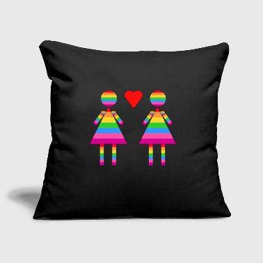 Lady Love - Sofa pillow cover 44 x 44 cm