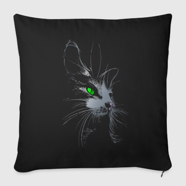 The Cat.png - Sofa pillow cover 44 x 44 cm