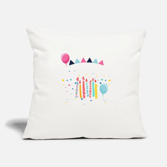 Birthday Pillow Cases - Blow me it's my birthday - gift idea JGA - Pillowcase 17,3'' x 17,3'' (45 x 45 cm) natural white