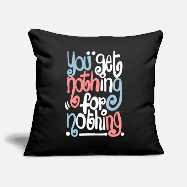 Nothing 4 nothing - Sofa pillowcase 17,3'' x 17,3'' (45 x 45 cm)