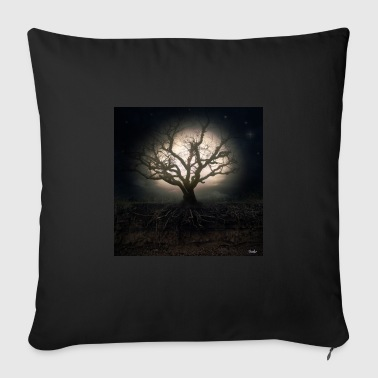 Tree in Moonlight - Housse de coussin décorative 44 x 44 cm