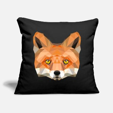fox poly vixen fox illustration low poly head - Pillowcase 17,3'' x 17,3'' (45 x 45 cm)